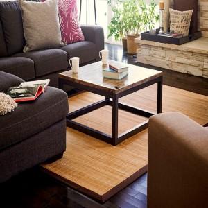 idea alfombra bambú