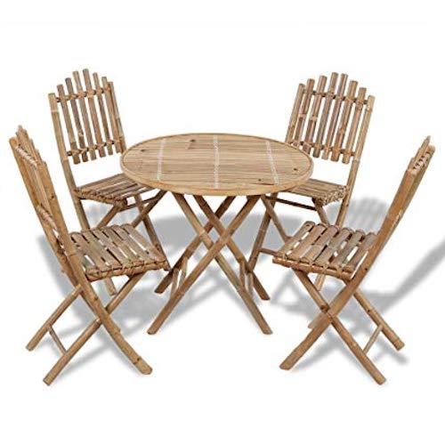 mesas de bambu